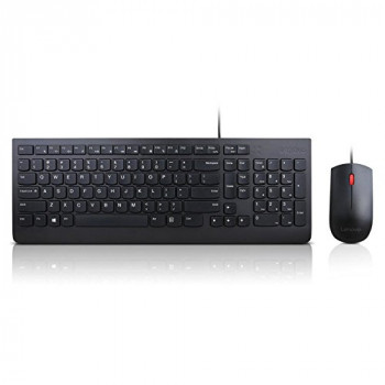 LENOVO 4X30L79883 Essential Wired Combo - Keyboard and mouse set - USB - English - US - for ThinkCentre M71X ThinkPad P51 P71 ThinkStation P320 V310 V320-15 V520-15 V520S-08 - (Laptops Laptop Dockin