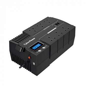 CyberPower BR1000ELCD-UK BRICs Series, 1000VA/600W, 6 UK Outlets (3 Surge only, 3 UPS and Surge), 1 USB Charging Port, AVR, Brick Format