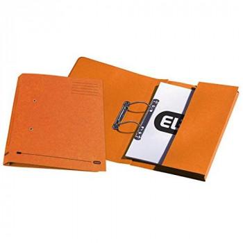 Elba Stratford Transfer Spring File with Pocket Recycled 315gsm 32mm Foolscap Orange Ref 30116 [Pack of 25]
