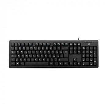 V7 KU200IT Italian Layout Wired Multimedia Keyboard - Black