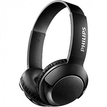 Philips on-ear headphones SHB3075BL/00 on-ear Bluetooth headphones (Bluetooth, powerful basses, built-in microphone, adjustable headband, 12-hour battery) Black