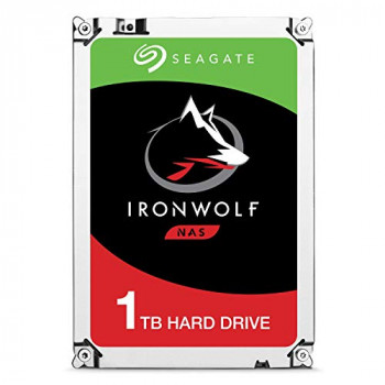 Seagate IronWolf 1 TB NAS Internal Hard Drive HDD – 3.5 Inch SATA 6 Gb/s 5900 RPM 64 MB Cache for RAID Network Attached Storage – Frustration Free Packaging (ST1000VN002)