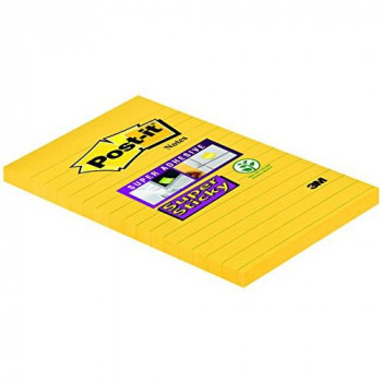 Post-it Super Sticky Notes - Ultra Yellow - 6 Pads Per Pack - 75 Sheets Per Pad - 102 mm x 152 mm