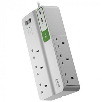 APC SurgeArrest Essential - Surge protector - AC 230 V - output connectors: 8 - United Kingdom - white
