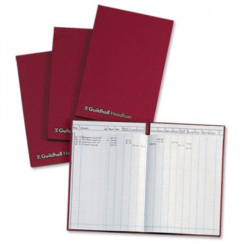 Guildhall 76091 Headliner Account Book 38 Series 14 Cash Columns 80 Leaf 298 x 203 mm, Ref 38/14