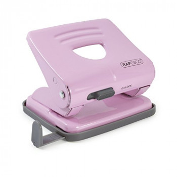 Rapesco 1358 2-Hole Metal Punch, 25 Sheet Capacity, Candy Pink