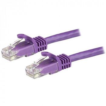 StarTech.com N6PATC50CMPL 0.5 m Cat6 Short Ethernet Patch Cable with Snagless RJ45 Connectors - Purple