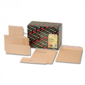 New Guardian Envelopes Heavyweight Pocket Peel and Seal Manilla 305x127mm[Pack of 250]