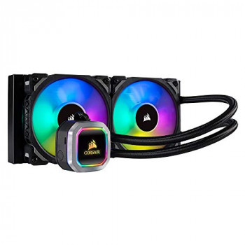 Corsair CW-9060039-WW Hydro Series H100i Platinum Individually Addressable RGB Liquid CPU Cooler - Black