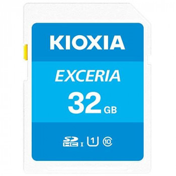 Kioxia 32GB Exceria U1 100MBs Class 10 SD card