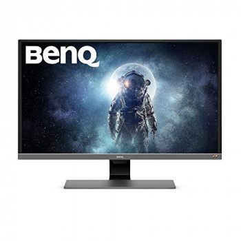 BenQ EW3270U 32 Inch 4K HDR Video Enjoyment Monitor, Eye-Care, UHD, VA, 95 Percent DCI-P3, B.I. Plus Sensor - Metallic Grey