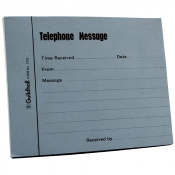 Guildhall GH110BU Telephone/Message Pad - Blue