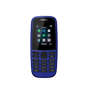 Nokia 105 (2019 edition) 1.77-Inch UK SIM Free Feature Phone (Single SIM) - Blue