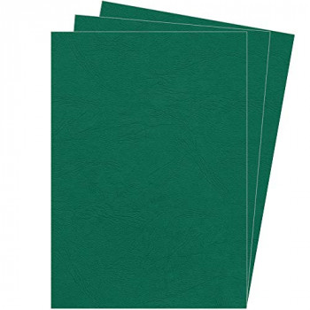 Fellowes A4 100 Percent Recyclable Leatherboard Binding Covers, Heavyweight, 250 gsm Presentation Covers, FSC, Green, Pack of 100