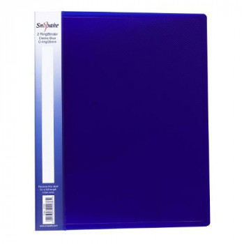 Snopake Electra Ring Binder Polypropylene 2 O-Ring 25mm Size A4 Blue Ref 10159 [Pack of 10]