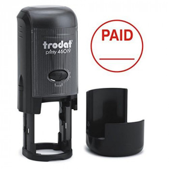"Trodat Printy 46019 ""PAID"" Self Inking Stamp"