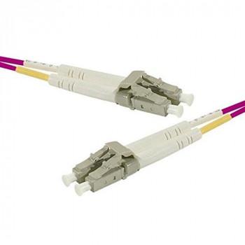 Dexlan 16.4ft OM3 50/125 LC/LC Fiber Duplex Patch Cord - Purple