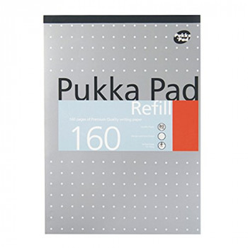 Pukka Pad A4 Punched 4 Hole Ruled Feint and Margin Refill Pad - White (80 Pages) - 1 Pack of 6 pads