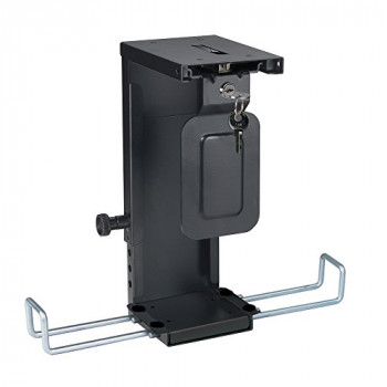 Newstar CPU-D075BLACK/LK Lockable Under Desk PC Mount (Suitable PC Dimensions - Height 20-36 cm / Width 5-10 cm) - Black