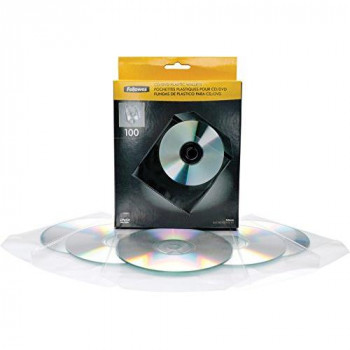 Fellowes 9831201 - optical disc cases (Wallet, Transparent, White, Plastic)