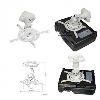 Amer Universal Ceiling Mount for Projector - White