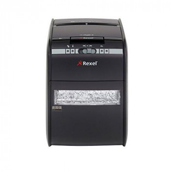 Rexel Auto+ 90X 2103080A Auto Feed 90 Sheet Cross Cut Shredder for Personal or Executive Use (Up to 2 Users), 20 Litre Bin, Includes Shredder Oil Sheets, Black