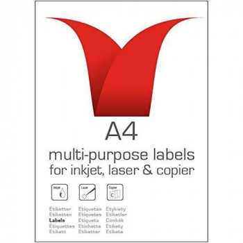 Stampiton STW064072SO 63.5 x 72 mm Multi Purpose Label - White (Pack of 100)