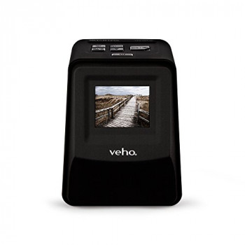 Veho Smartfix Portable Stand Alone 14 Megapixel Negative Film & Slide Scanner with 2.4? Digital Screen and 135 Slider Tray for 135/110/126 Negatives Compatible with Mac/PC ? Black (VFS-014-SF)
