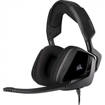 Corsair VOID ELITE Stereo Gaming Headset (Breathable Microfiber Mesh, Plush Memory Foam Earpads, High-Density Neodymium Audio, Optimised Omnidirectional Microphone, Multi-Platform Compatible) Black
