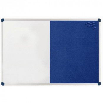 Nobo Classic Combination Board with Magnetic Drywipe and Felt Surface (Felt/Painted Steel) (900x600 mm)