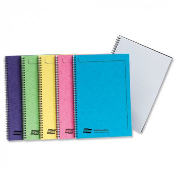 Europa Notemaker Sidebound Ruled A4 Book, 500 micron - Assorted Colours, Pack of 10