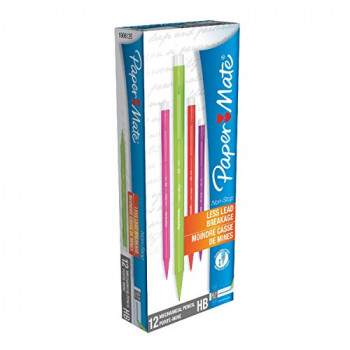 Paper Mate Non-Stop Automatic Pencil HB Lead Neon Barrel Ref S0187204 Pack of 12