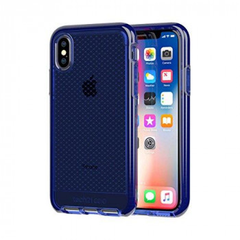 Tech 21 Evo Check Phone Case for iPhone X - Midnight Blue