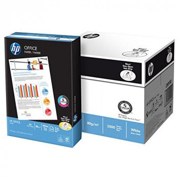 HP 80 gsm A4 White Office Copier Paper (1 Box Contains Five Reams of 500 Sheets)