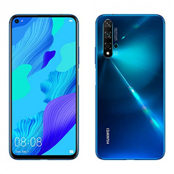"Huawei Nova 5T 128GB 6.26"" LCD Display Smartphone with 48 MP Camera, 6GB RAM, SIM-Free Android 9.0, EMUI 9.1, Single Sim, (Crush Blue) UK Version"