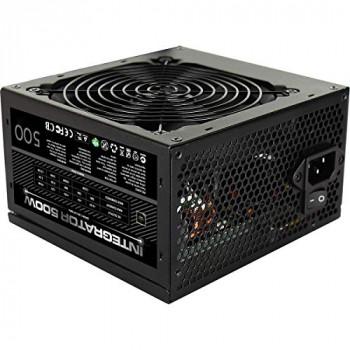 Aerocool Integrator 500W Power Supply, 80 Plus Bronze, Up To 85% Efficiency, 12cm Black Fan, For Mainstream Systems | Black