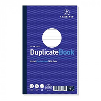 Challenge 210x130mm Ruled and Taped Duplicate Book Pack of 5
