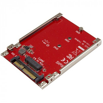 StarTech.com M.2 to U.2 Adapter, For M.2 PCIe NVMe SSDs, PCIe M.2 Drive to U.2 (SFF-8639) Host Adapter, M2 SSD Converter (U2 m2E125)