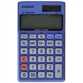 Casio SL320TER Pocket Calculator,Blue