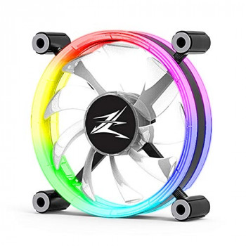 Zalman LF120 Premium Double-Sided Ring RGB Computer/PC Case LED Fan, 120mm,