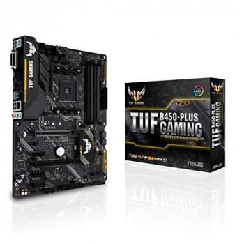 ASUS TUF B450-PLUS GAMING AM4/B450/DDR4/S-ATA 600/ATX Socket Motherboard - Black