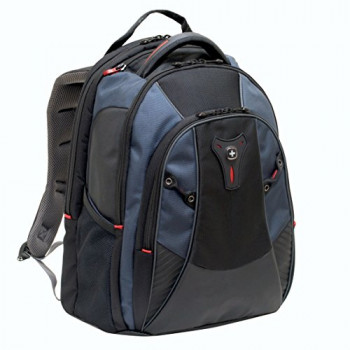 "Wenger 600632 MYTHOS 16"" Laptop Backpack , Triple Protect compartment with case stabalising platform in Blue {25 Litres}"
