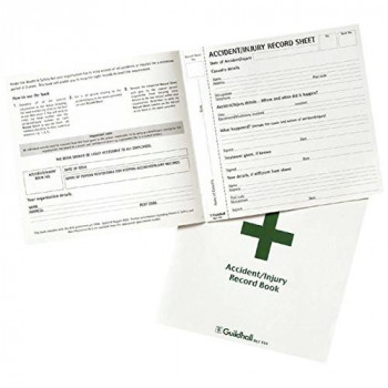 Exacompta Guildhall Accident/Injury Record Book, 20 Pages, 210 x 200 mm,