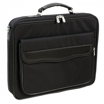 Monolith New Nylon Computer Case with Organiser and Document Pocket PU Trim for 17.4 inch Black Ref 2342