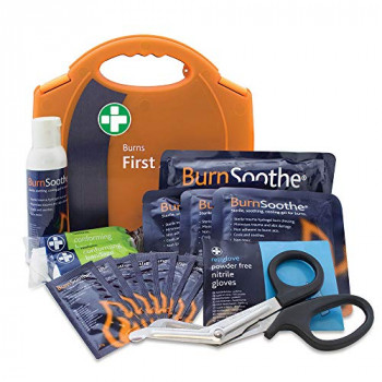 Reliance Medical Burns Standard First Aid Kit in Aura Carry Box for Ref 124