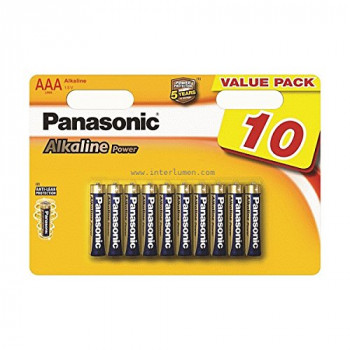 Panasonic LR03APB/10BW AAA Alkaline Power Batteries (Pack of 10)