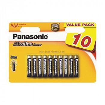 Panasonic LR03APB/10BW AAA Alkaline Power Batteries (Pack of 10)