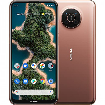 """Nokia X20 5G smartphone, dual SIM, RAM 6GB, ROM 128GB, 64MP quad camera, watermark capability, 6.67"""" Full HD+ display, durable design, 2 days battery life and Pure Android 11 - Midnight Sun"""