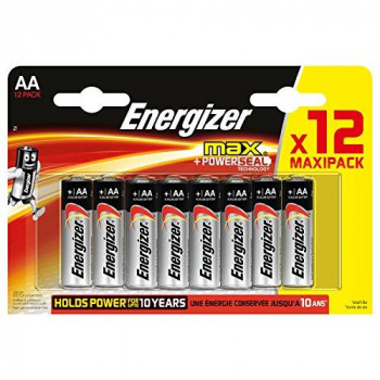 Energizer MAX Alkaline AA Batteries, 12 Pack