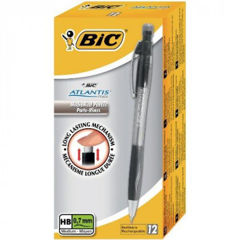 BIC Atlantis Mechanical Pencil with 3 x 0.7mm HB Leads Box of 12